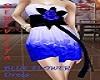 Hera V.Blue Flower Dress