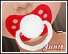 ✿ Red & Sparkle Paci