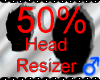 *M* Head Resizer 50%