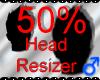 *M* Head Resizer 50%
