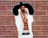 White Jacket Blk Fur