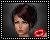 Black Red Updo