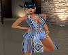 Cowboy Up Blue Short Set