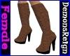 Round-Toe Boots-BrnSuede