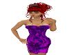 tight purple dress