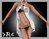 >R< White Covered Bikini