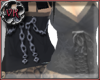 [VK]Blk ribbon-chain top