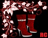 RC RED SPARKLING BOOTS