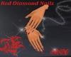 SXY Dainty Red Diamond