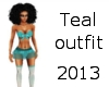 Teal outfit 2013