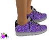 Purple glitter sneakers