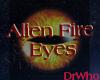 Alien Female Fire Eyes