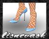 (L) Blue Heels & Stckngs