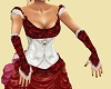Victorian Gloves Red
