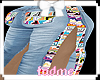 Kids Fendi Split Jeans