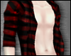 Red Striped Open Shirt