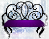 black & purple bench