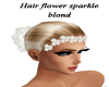 EG hair flower sparkle