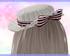 White bow hat*tricolore