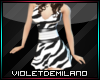 BM ZEBRA DANCE DRESS