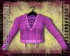 {MD}Lilac Lace Up Top
