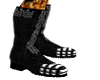 Black&white flaming boot