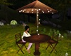 Garden Table with Lights