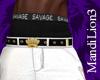 Savage King White Pants