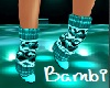 B! Teal sweater boots
