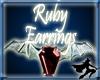 Ruby Bat Wing Earrings