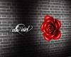Red Rose -Hair Flower