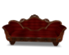 Antique red couch