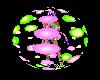 Lime&purple Skittle ball