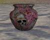Vintage rose/skull vase