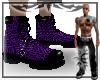 {E} Purple Snake Boots