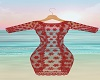 Dk Red Lace Cover Up RL