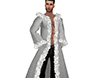 Silver Winter Fur Coat M