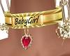 BabyGirl Gold Collar