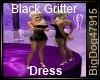 [BD] Black Gritter Dress