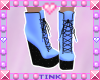 Wedge Boots | Blue