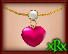 Heart/Pearl Necklace pnk