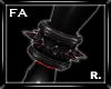 (FA)SpikedAnkleR Red