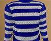 Blue Striped Sweater (M)