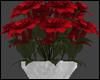 RedFlowersinSilver Vase