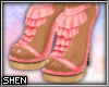 :S Frilly Pink Heels
