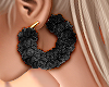 Fur Hoops Black - G