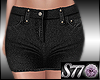 [S77]Denim Skirt Black