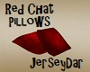 Red Chat Pillows