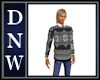 NW Gray Xmas Sweater