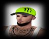-Lime Green Monster Cap-